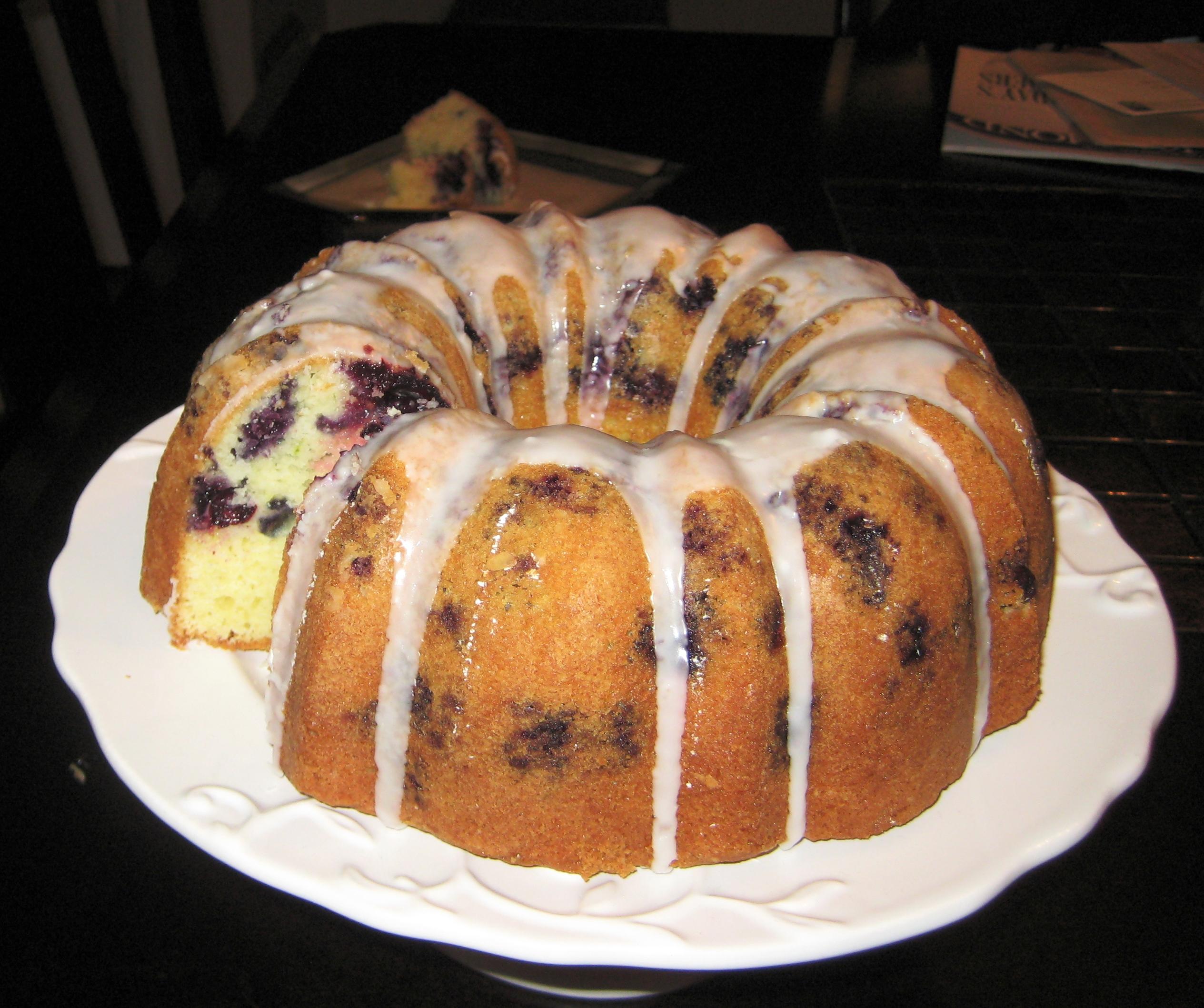 Blueberry-Lime Pound Cake |